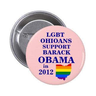 LGBT Ohioans Connecticut para Obama 2012 Pin Redondo 5 Cm