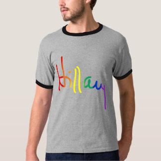 LGBT para Hillary - bandera del arco iris - Playera