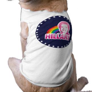 LGBT PARA HILLARY CLINTON 2016 PLAYERA SIN MANGAS PARA PERRO