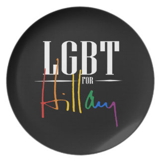 LGBT PARA HILLARY PLATOS PARA FIESTAS