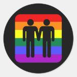 LGBT PEGATINAS REDONDAS