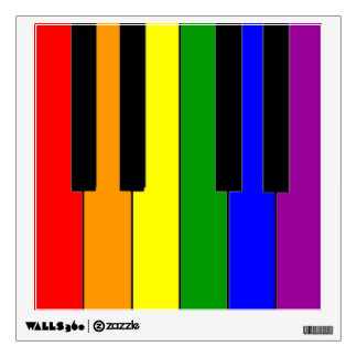 LGBT Piano Keys Wall Sticker