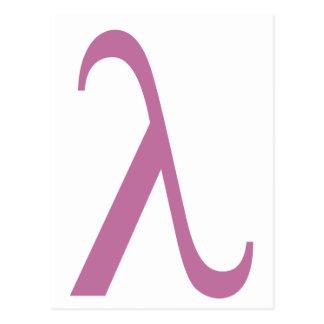 LGBT Pink Lamda Symbol Postcard