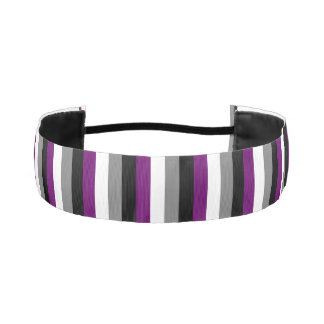 "LGBT Pride Asexual Flag Colors 1-1/2"" Athletic Headband"