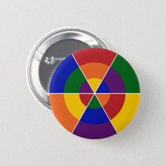LGBT Pride Colorful Geometric Rainbow Button