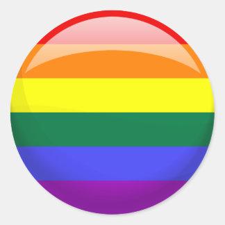 LGBT Pride Flag Classic Round Sticker