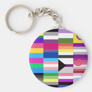 LGBT Pride Flag Collage Keychain