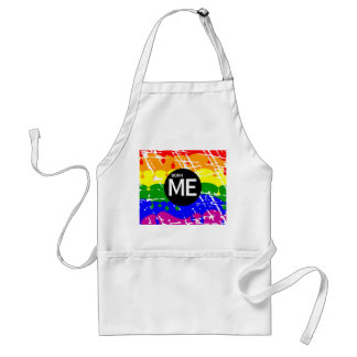 LGBT Pride Flag Dripping Paint Born Me Apron
