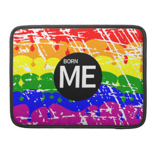 LGBT Pride Flag Dripping Paint Born Me MacBook Pro Sleeve