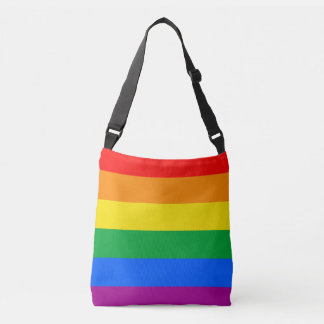 LGBT Pride Flag / Rainbow Flag Crossbody Bag