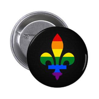 LGBT pride fleur-de-lis Button Buttons