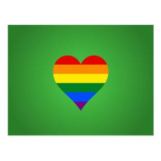 LGBT pride heart Postcard