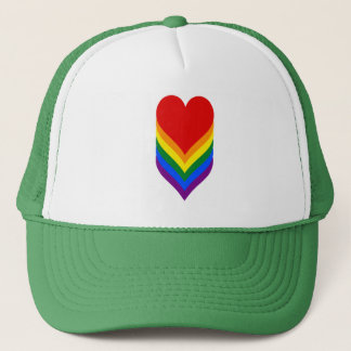 LGBT pride heart Trucker Hat