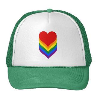 LGBT pride heart Trucker Hat Hats