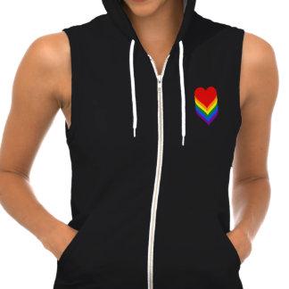 LGBT pride hearts Hoodie Pullover