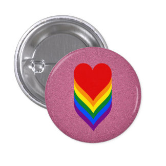 LGBT pride hearts pink button Pins