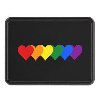 LGBT pride hearts Trailer Hitch Cover