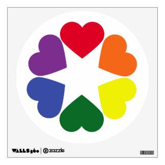 LGBT pride hearts Wall Decal