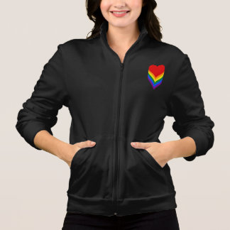 LGBT pride hearts Zip Jogger Jacket