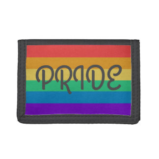 from Callen gay pride leather tri-fold wallets