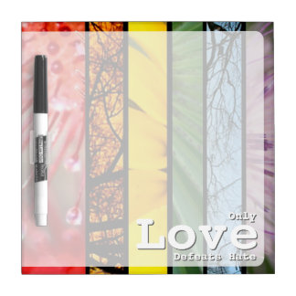 LGBT Pride Nature Rainbow Symbol Love Defeats Hate Dry-Erase Board