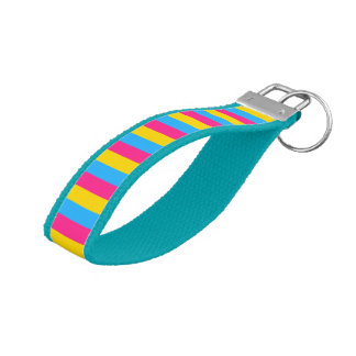 LGBT Pride Pansexual Flag Colors Wrist Keychain