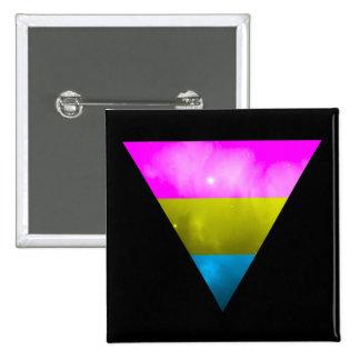 LGBT Pride Pansexual Pan Triangle Galaxy Pinback Button