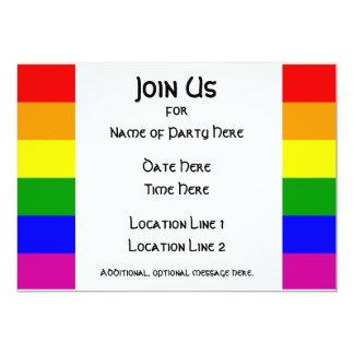 """LGBT Pride Party Invitation #1 5"""" X 7"""" Invitation Card"""