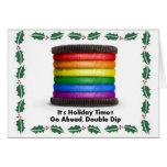 LGBT PRIDE RAINBOW COOKIE for the HOLIDAYS Cards