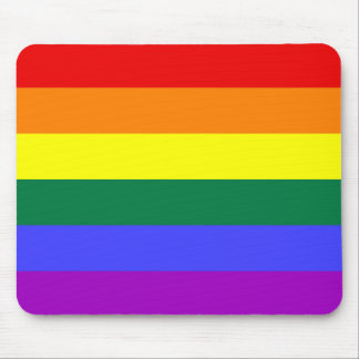 LGBT Pride Rainbow Flag Mouse Pad
