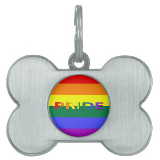 LGBT Pride Rainbow Flag Pet ID Tag
