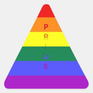 LGBT Pride Rainbow Flag Triangle Sticker
