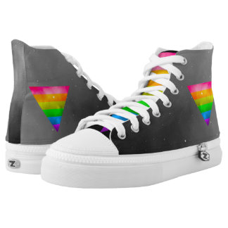 LGBT Pride Rainbow Triangle Galaxy High-Top Sneakers
