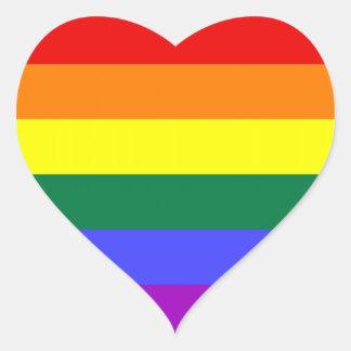 LGBT Pride Stickers (Heart)