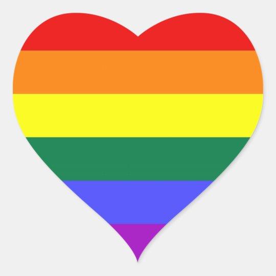 Lgbt Pride Stickers Heart Zazzle Com