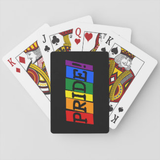 LGBT pride text sign Playing Cards