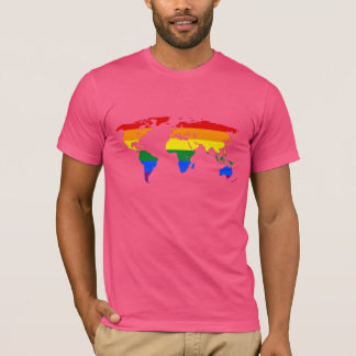 LGBT pride world map T-Shirt