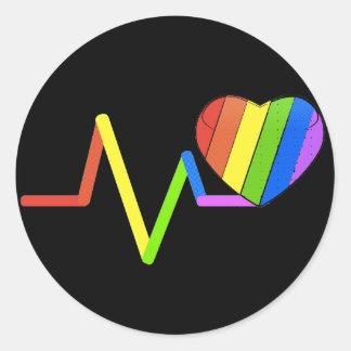 LGBT Pulse Orlando Tribute #LoveWins Classic Round Sticker