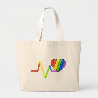 LGBT Pulse Orlando Tribute #LoveWins Large Tote Bag