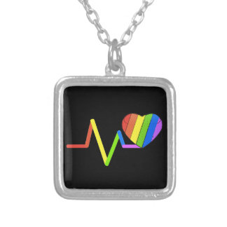 LGBT Pulse Orlando Tribute #LoveWins Silver Plated Necklace