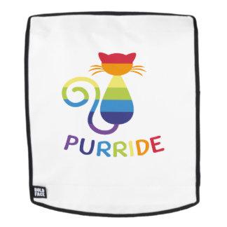 LGBT Purride  Gay Lesbian Pride Cat  Funny Gift Backpack