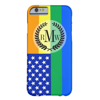 LGBT Rainbow American Flag Barely There iPhone 6 Case
