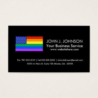 LGBT Rainbow American Flag Business Card