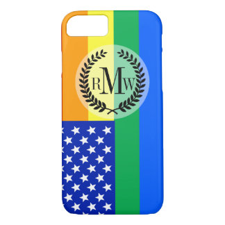LGBT Rainbow American Flag iPhone 7 Case