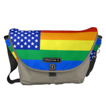 LGBT Rainbow American Flag Messenger Bag