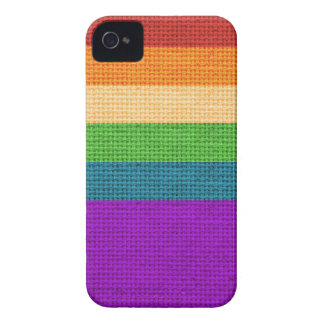LGBT Rainbow Burlap iPhone 4 Cover