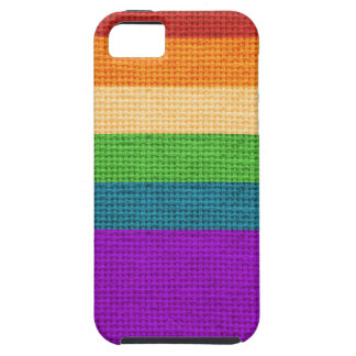 LGBT Rainbow Burlap iPhone SE/5/5s Case