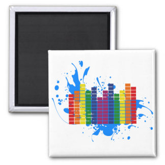 LGBT Rainbow Equalizer 2 Inch Square Magnet