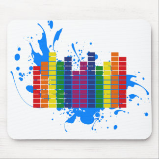 LGBT Rainbow Equalizer Mouse Pad