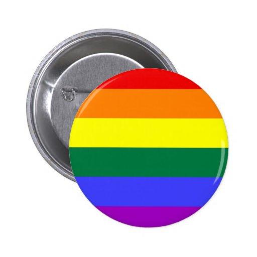 LGBT Rainbow Flag Button
